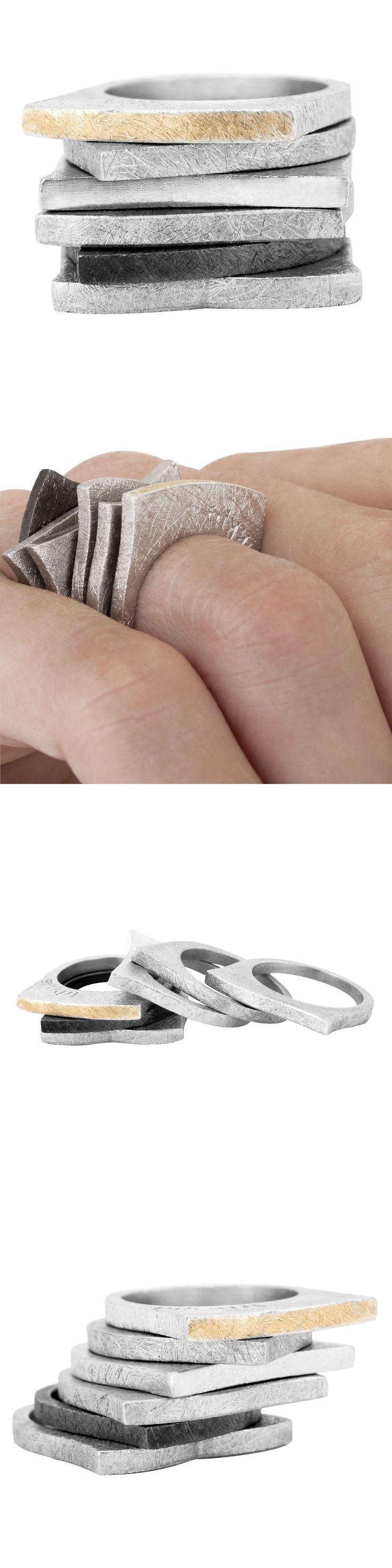Rings by Frikkia - silver/gold - anillos de plata y oro