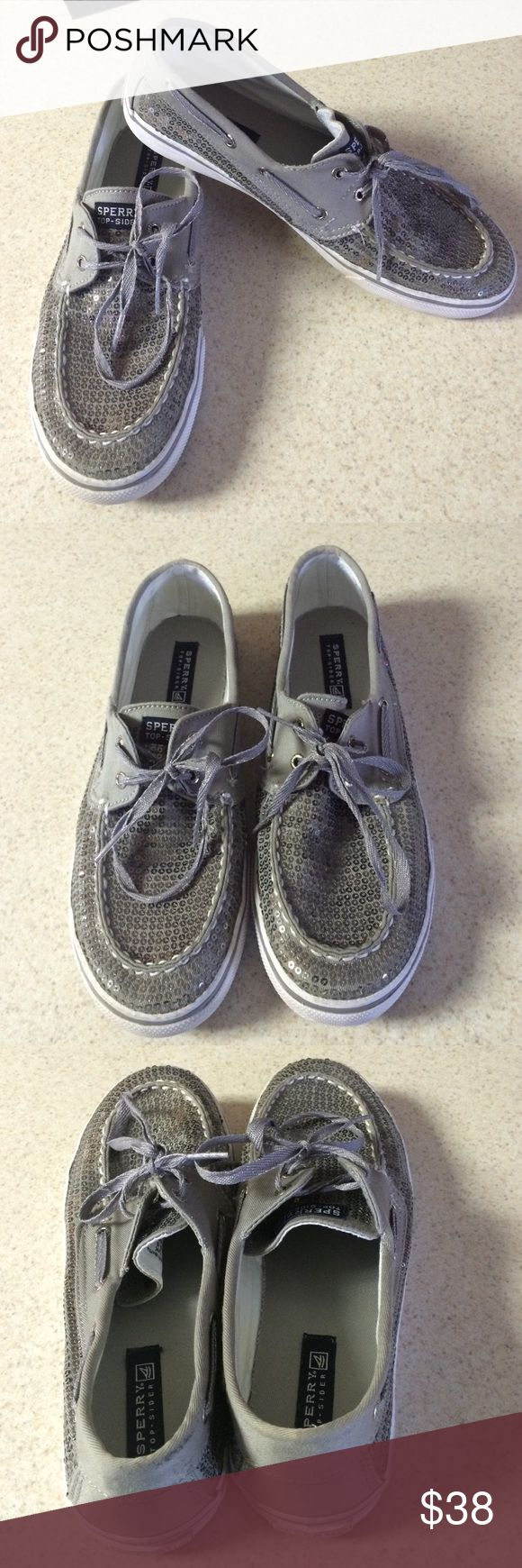⚡️weekend sale⚡️was $38 SPERRY top-sider sneakers Beautiful sequined SPERRY top-sider, worn once, great condition. Size 6M Sperry Top-Sider Shoes Sneakers