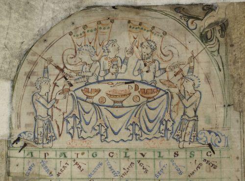Anglo-Saxon feast: The Tiberius Psalter, Cotton MS Tiberius C VI, f. 5v