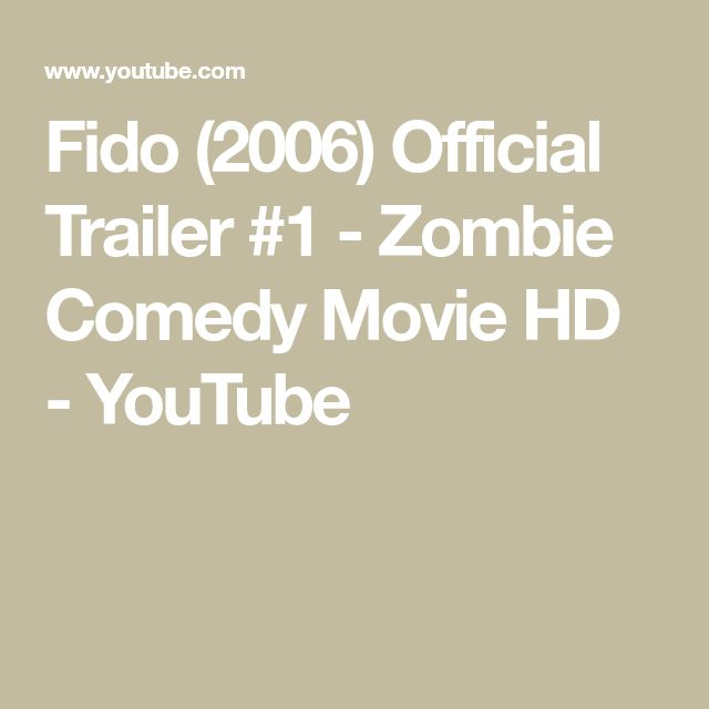 Fido (2006) Official Trailer #1 - Zombie Comedy Movie HD - YouTube