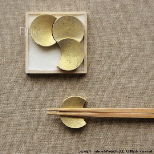 Rakuten - [FUTAGAMI / chopstick rest of the brass design; Ooharu Masanori / 4 ※ Mon four pieces (castings every position chopsticks chopstic...