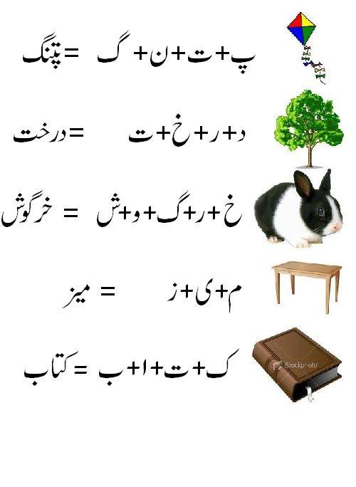 urdu worksheet | Urdu alfaz jor-tor