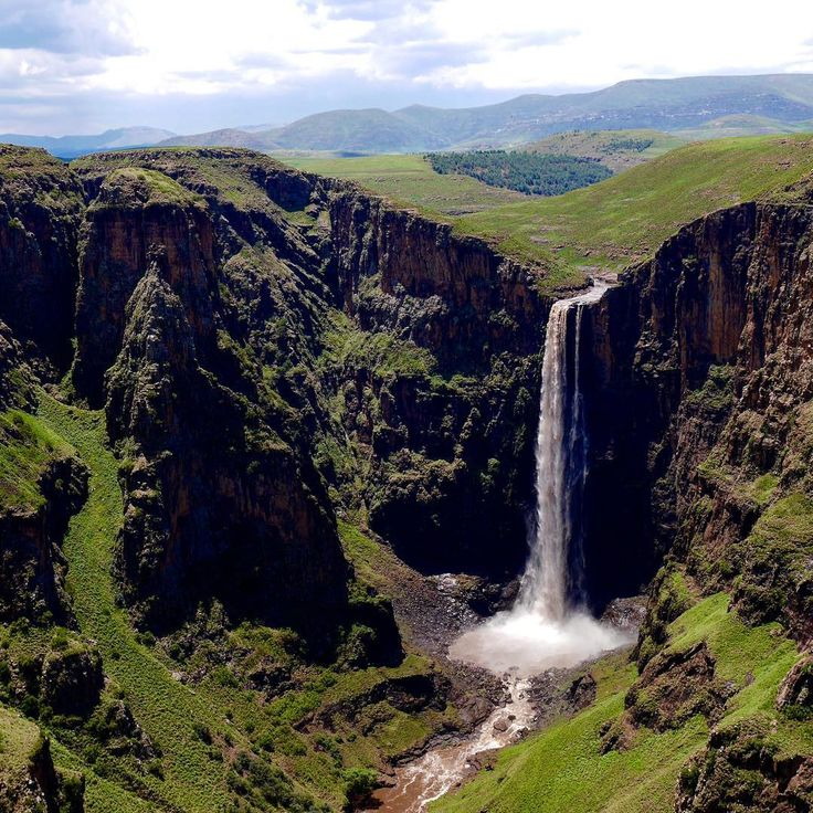 Maletsunyane Falls (January 2016) in Lesotho. Still one of our absolute favourite places we've been to. #lesotho #maseru #semonkong #maletsunyanefalls #waterfall #river #mountain #canyon #africa #southafrica #traveladdict #travelpics #travel #roadtrip #roadtrips #traveling #lovetotravel #travelphoto #landscape_captures #travelling #travels #traveller #travellife #travelblog #globetrotters #traveltheworld #travellingtheworld #travelgram #travelblogger #travelafrica