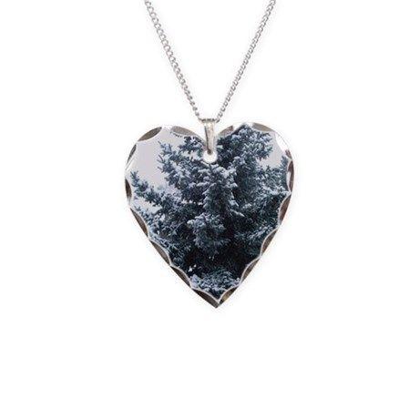 Songdove Books - Heart-shaped Winter Fir Tree Necklace on CafePress.com