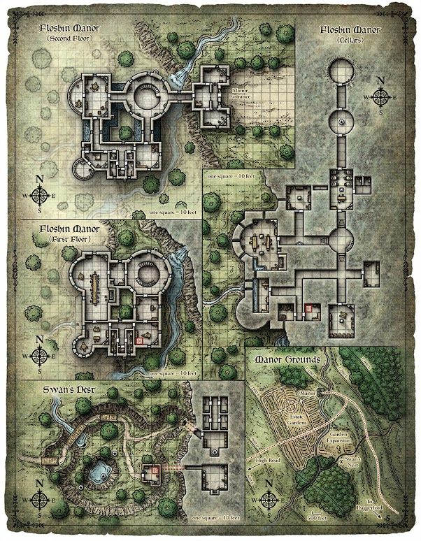 Floshin Manor RPG Map