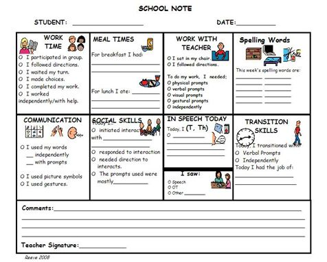 42 best Autism Parent*Student*Teacher Communication images on - communication log template