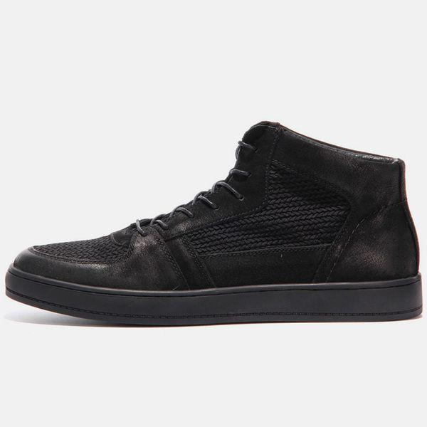 2017 Новый японский стиль Harajuku тенденции Diablo серии кожи высокого верха обуви британские ретро обувь дышащая черный мужской