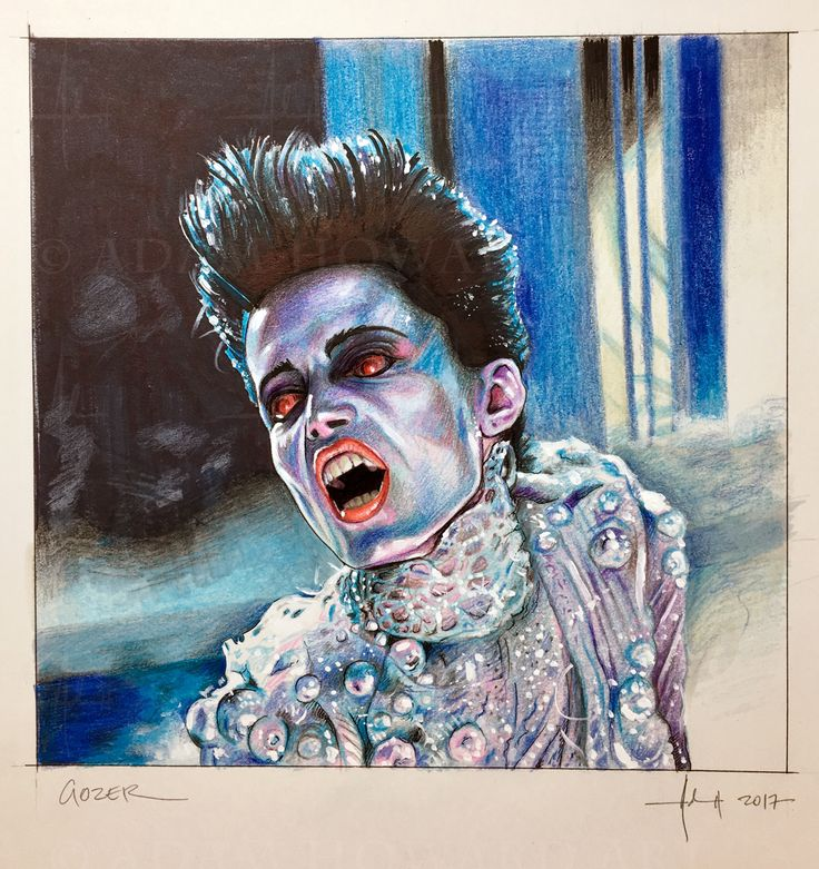 "SLAVITZA JOVAN as GOZER THE GOZERIAN Ghostbusters 1984 Illustration © Adam Howard 2017 Medium is Color Pencil, Prismacolor Marker, Copic marker and acrylic paint on acid free Strathmore Drawing paper. Dimensions are 8"" wide by 8"" high #adamhowardart #ghostbusters #gozer #slavitzajovan #gozerthegozerian #gozerthedestroyer #gozerthetraveler #volguuszildrohar #lordoftheseboillia #thekeymaster #thegatekeeper #zuul #scifi #adventure #film #movies #blockbuster #comedy #horror #whoyougonnacall…"