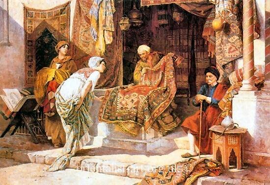 Francesco Ballesio The Carpet Seller