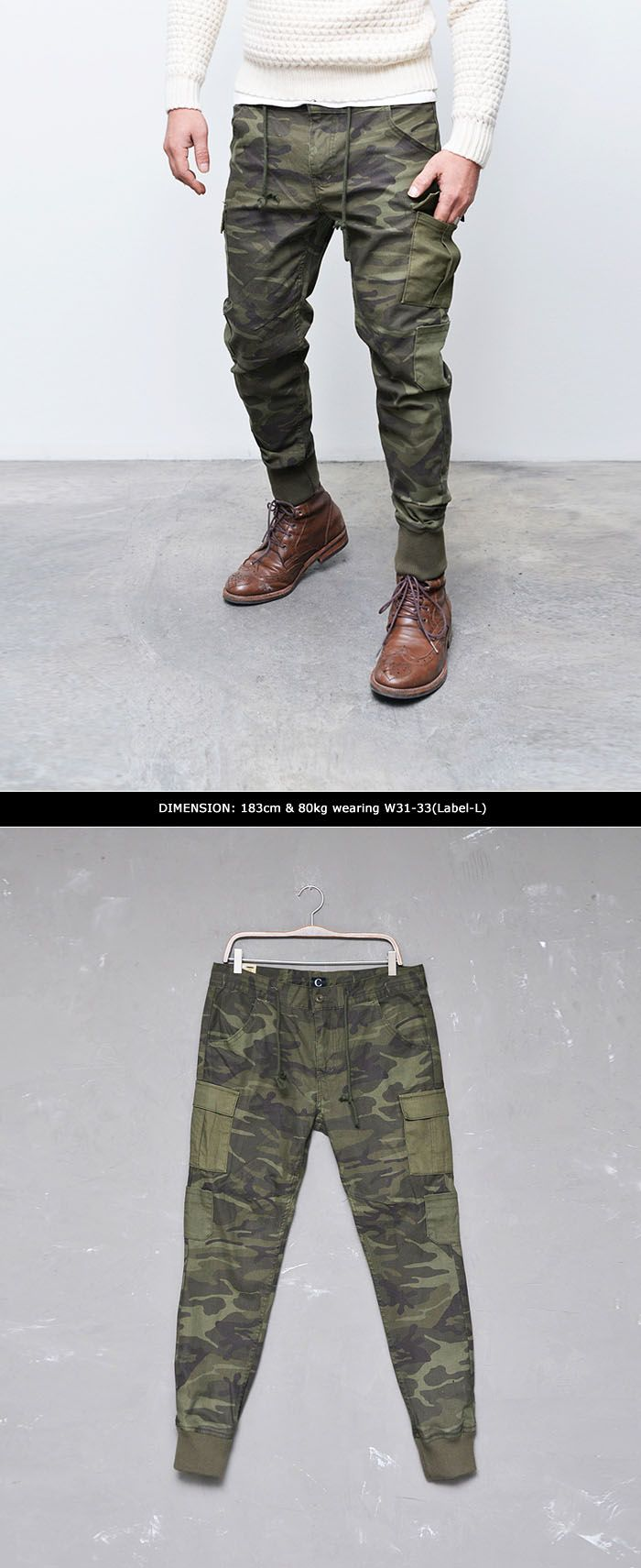 Bottoms :: Must-have Camouflage Cargo Drop Jogger-Pants 153 - Mens Fashion Clothing For An Attractive Guy Look