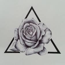Image result for geometric roses tattoo