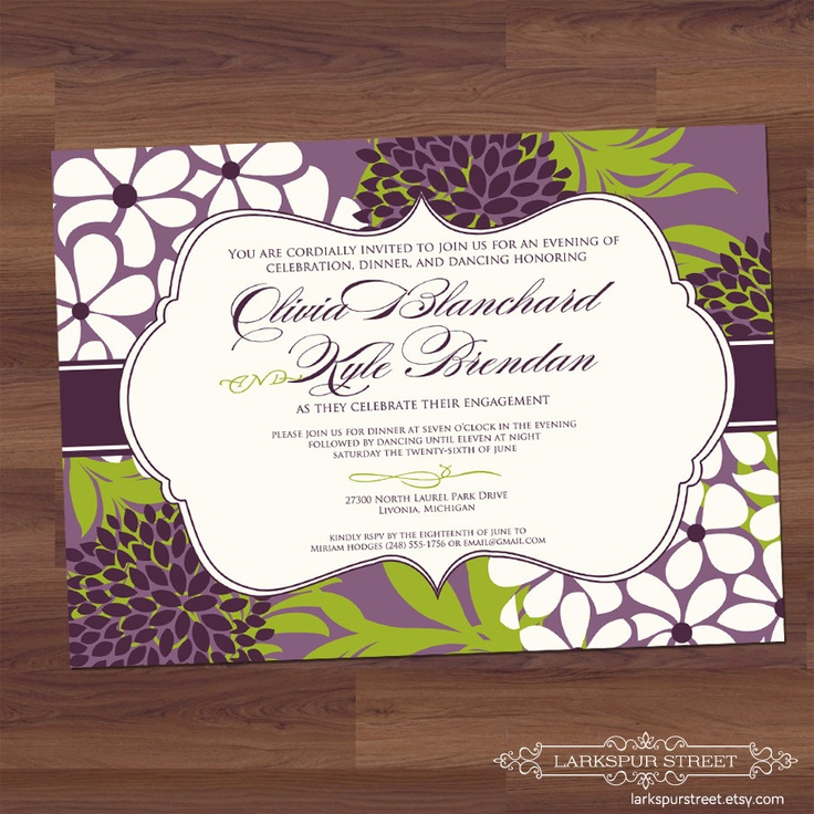 Bridal Shower Invitation Sophisticate