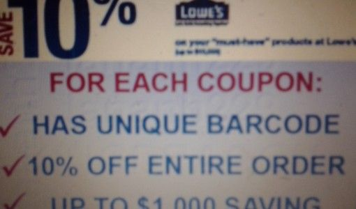 will home depot accept a lowes 10 coupon