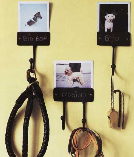 Cute! Take a pic of your pup and put a hook on it. Then you will always know where it's leash is, and which dog it is for.
