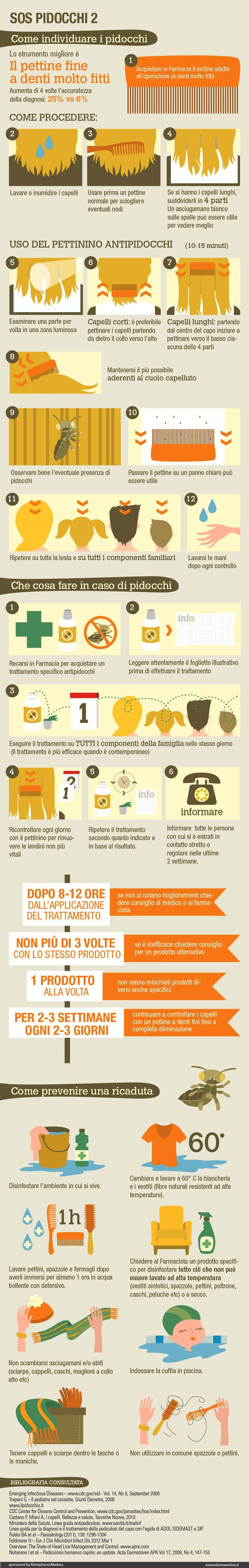 SOS Pidocchi 2 Infografica - esseredonnaonline