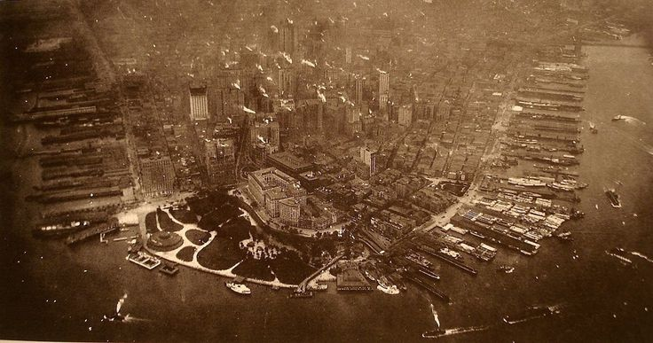 1922: The first aerial photograph of Lower Manhattan
