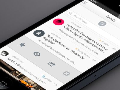 Mobile UI, using colour to draw out information of interest