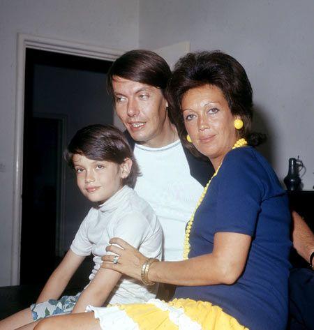 Fabrizio col figlio Cristiano e la prima moglie Enrica Rignon detta Puni