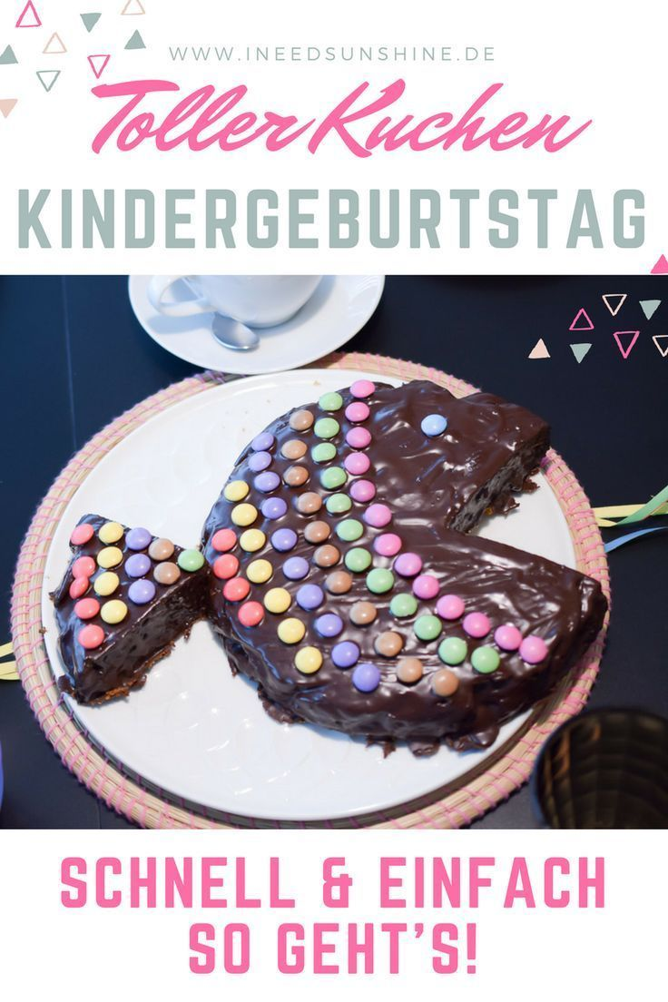 Aniversário de crianças: Este bolo é rápido e fácil!
