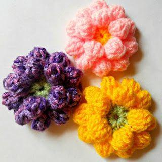 crochet flower dahlia - Free Pattern + lots & lots of more free patterns here!!!