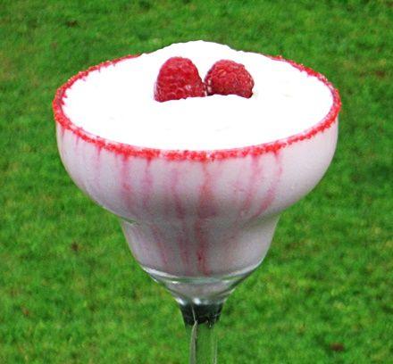 Raspberry Beret  (2 oz. Raspberry Vodka 2 oz. Raspberry Liqueur 2 oz. Baileys Irish Cream 4 oz. Cran-Raspberry Juice 4 oz. Half & Half 1 oz. Grenadine Whipped Cream Fresh Raspberries)