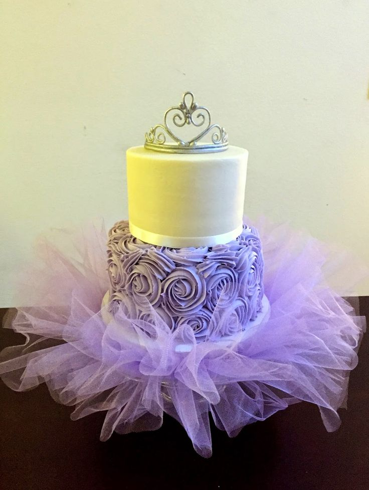 If you are doing a cute princess, ballerina, or simple girly theme this is the cake!!  This cake design is very simple... a smooth top ...