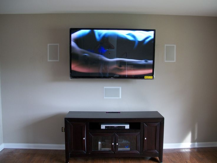 We mount TVs and can install in wall speakers that give you that amazing look and awesome sound!