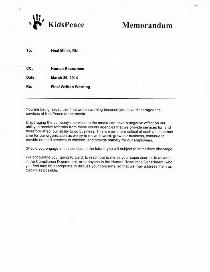 Kpconcerns Warning Letter For Absentwarning Letter For