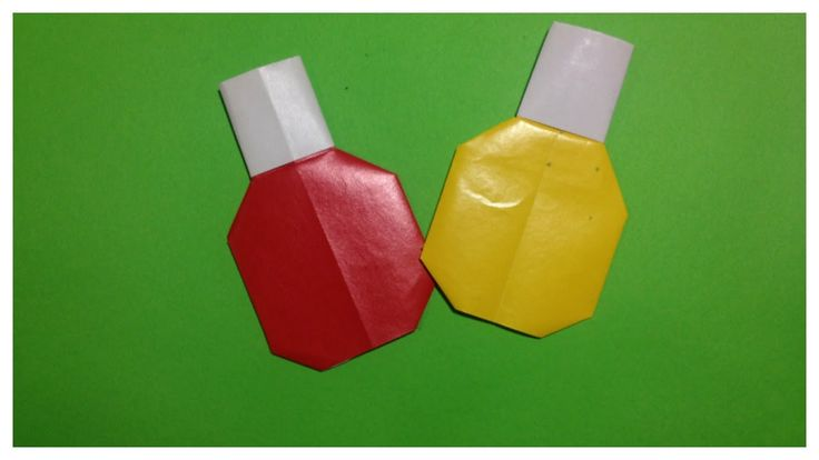 Origami nail polish | Origami for girls | HueTran