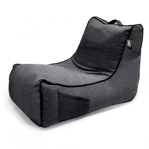The Coastal Haven in Charcoal is a classic lounger shape with soft touch velour fabric, giving this stylish bean bag a warm indoor look. From lifeliveitup.com.au