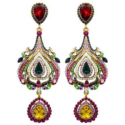 Butler & Wilson Tulip Shape Earrings Swarovski crystal #earrings