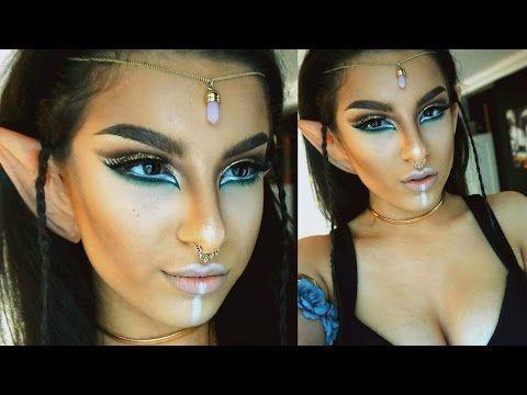 Wood Elf Makeup Tutorial | Halloween 2015 | Makeup By Leyla - YouTube
