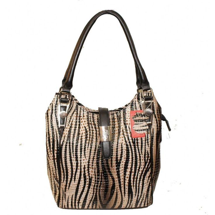 Deri Omuz Çantası | Desisan 4202 Desenli Siyah-Bej | 12005004202100115007 | bayan çanta ,omuz çanta,deri çanta ,askılı çanta |