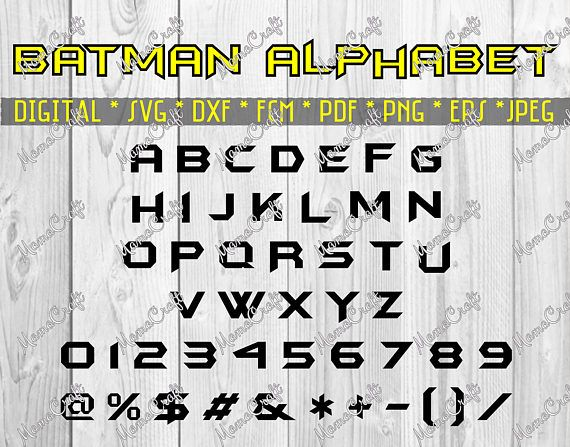 on cutting files by vmackov see more batman alphabet monogram letters svg font dxf fcm png eps