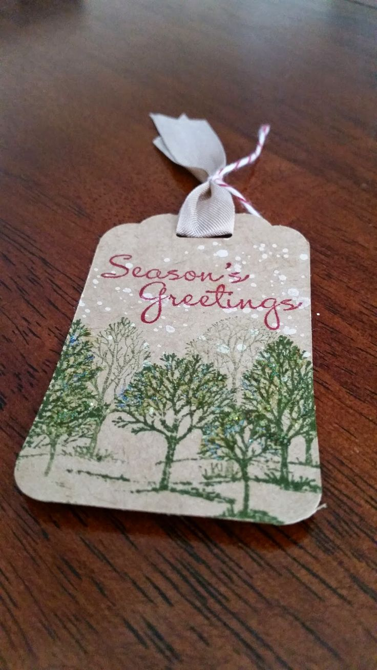 Visit my NEW blog www.sweetpiecesbyme.com: 12 Tags of Christmas (more ideas to come!) One tag each week until Christmas! Stampin Up, Lovely As A Tree, More Merry Messages, Christmas Tag, Tags, Gorgeous Grunge, Pin this to reference later! Charlene Becker - Independent Demonstrator