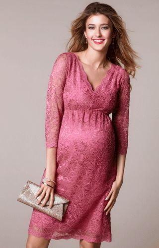 Chloe Maternity Lace Dress Desert Rose by Tiffany Rose