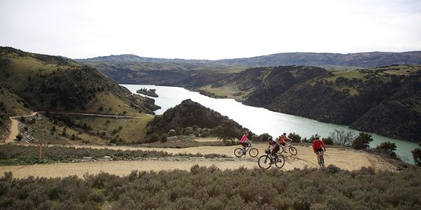 The Roxburgh Gorge Trail is one of the remoter cycling trails in New Zealand.  You need to have intermediate level fitness for this venture... http://www.centralotagonz.com/roxburgh-gorge-trail