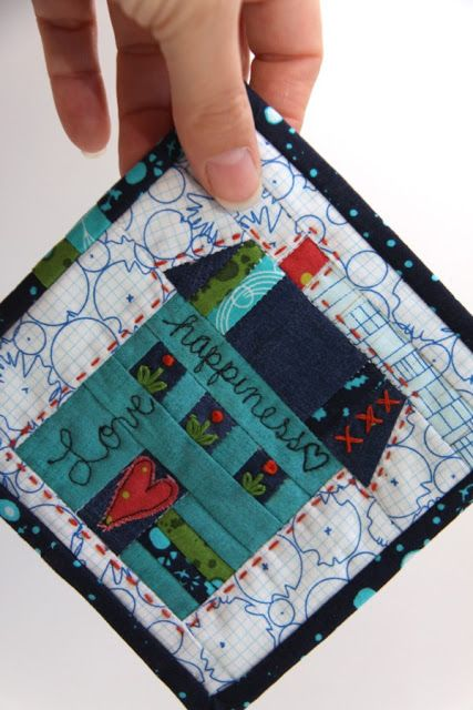 """Free Mini Mini """"The House Where Kitty Lives"""" pattern template from Campbell Soup Diary"""