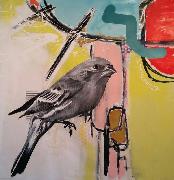 "Saatchi Art Artist Jérôme Rochette; Painting, ""Purple Bird"" #art"
