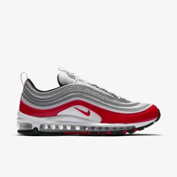 Nike Air Max 97 Platinum Red Grailify Sneaker Releases