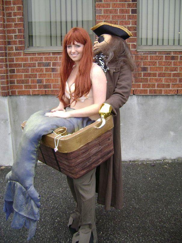 Ausgefallene coole Faschingskostüme für zwei: Seejungfrau und Pirat