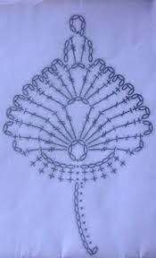 Crochet. Leaf. Diagram.