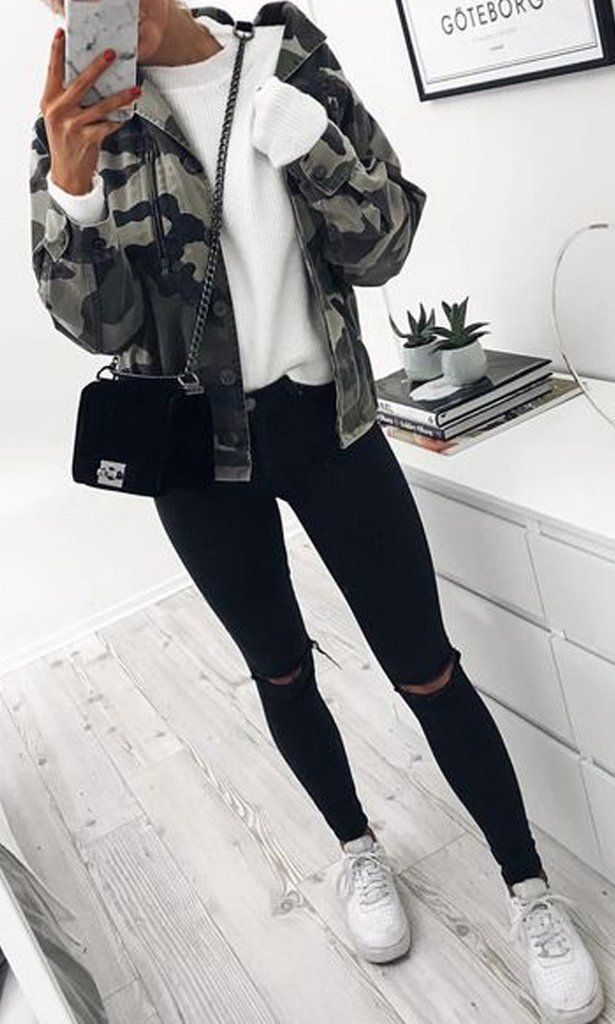 Cute Fall Casual Back to School Outfits Ideen für Teenager für das College 2018 Casual