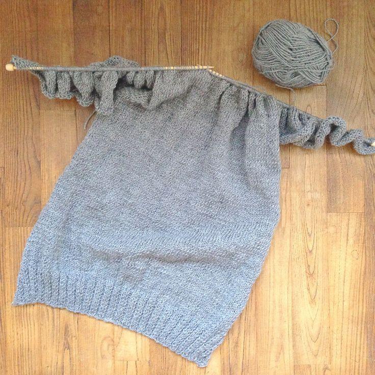 Um suéter fácil em uma parte -DIY Tricot-
