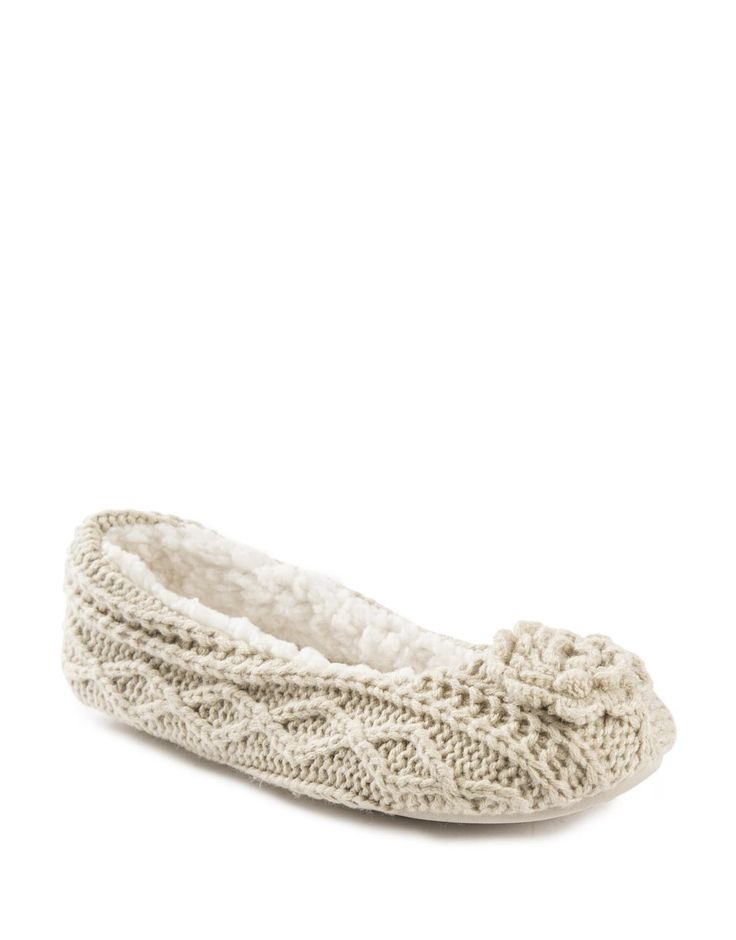 Knit Pump Slippers will make up for all the freezing mornings she got out of bed to pack school lunch.