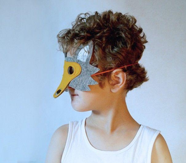 100% dik wolvilt maskers | Olmoost