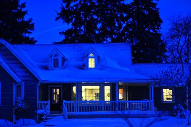 I love thisHouse Inspiration, House Ideas, Winter Wonderland, Dreams House, New Years, Front Porches, Upstairs Windows