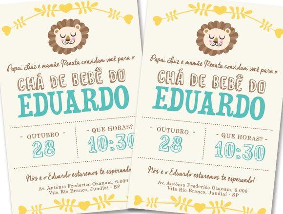 Convite Chá de Bebê - Menino
