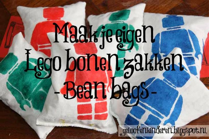 Kopje Thee(a): Lego kinderfeestje. Links naar diy lego bean bags, diy lego vlaggetjes, diy lego pinata, diy lego t-shirts, spelletjes en meer! // Lego party free printables, instructions for bean bags, garland, pinata, t-shirts, games and more.  Wow.