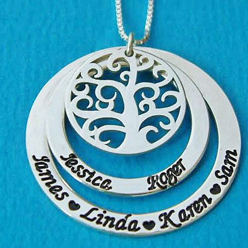This personalized Family Tree of Life Necklace will make for a perfect gift for mom.